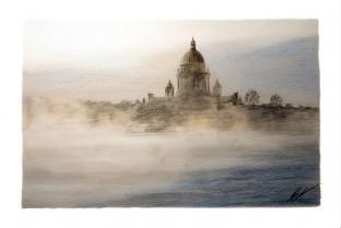 Открытки Санкт-Петербург карандаш