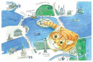 Открытки Петербургские коты
