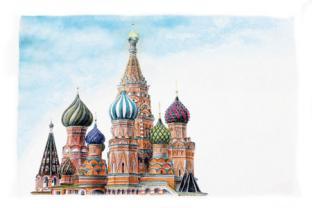 Открытки, магниты на холодильник, календари, блокноты, шоколад Москва