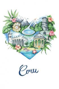 Открытка сувенир Сочи акварель иллюстрация «Сердце Сочи»