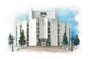 Открытка сувенир Челябинск серия «Акварель» - «Театр драмы имени Наума Орлова»
