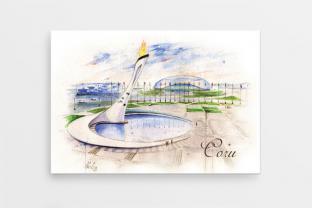 Магнит на холодильник сувенир Сочи серия «Акварель» - «Олимпийский парк»