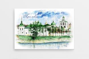 Магнит сувенирный закатный на холодильник «Спасо-Преображенский монастырь»